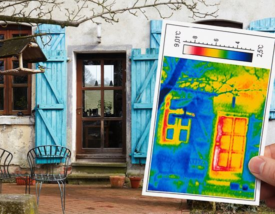 Thermoscan eines Hauses